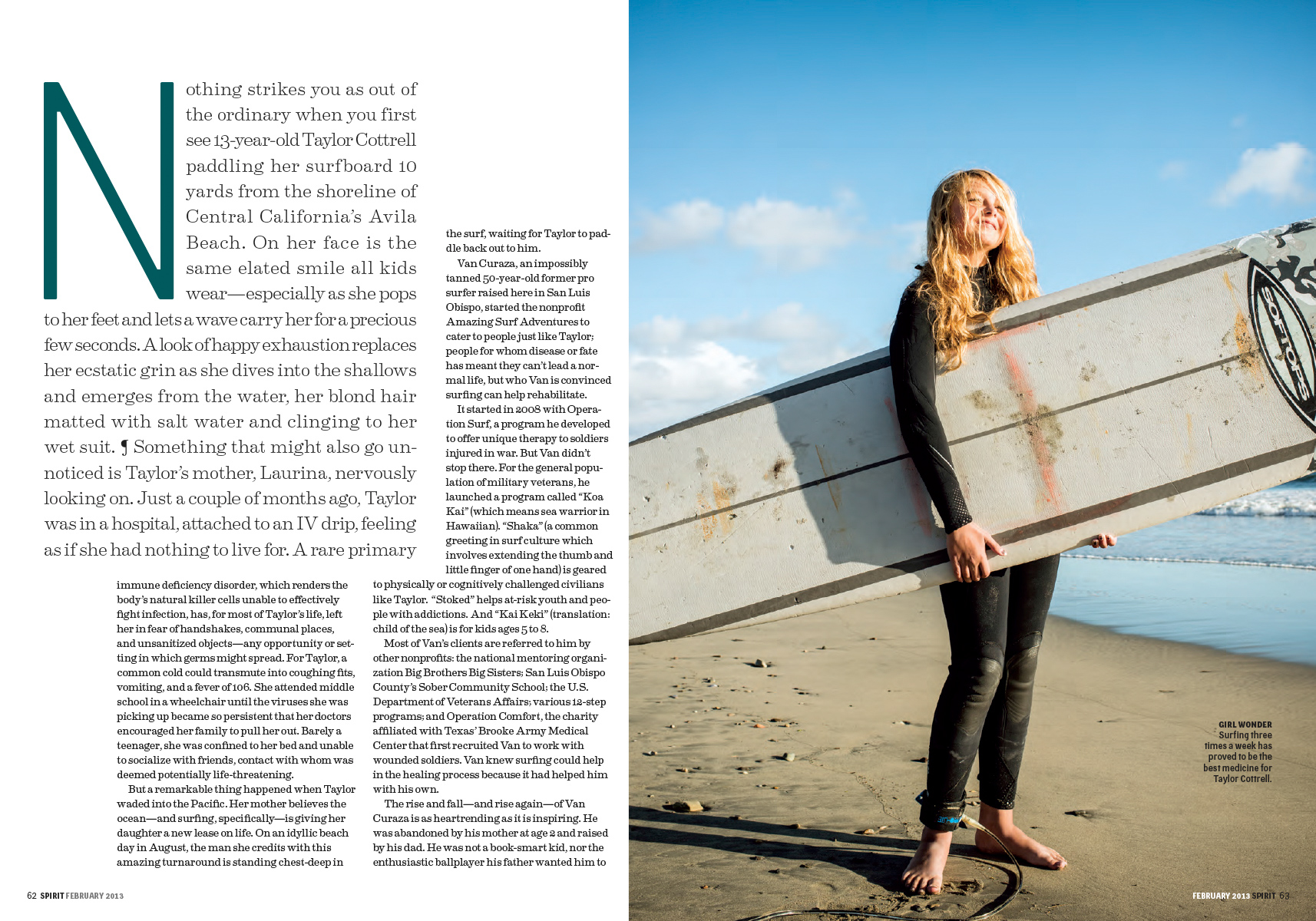 Surf School for Spirit Magazine