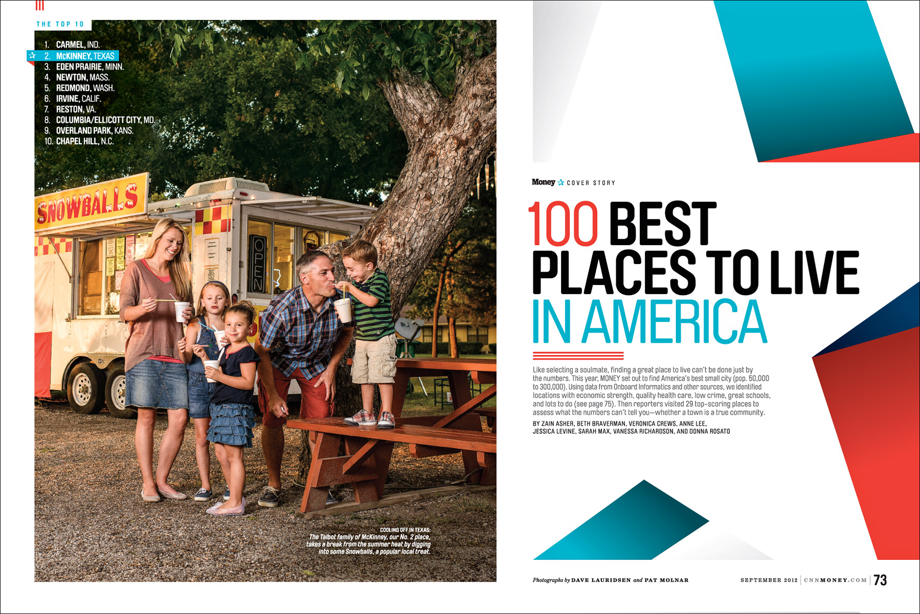 100 Best Places to Live for Money Magazine