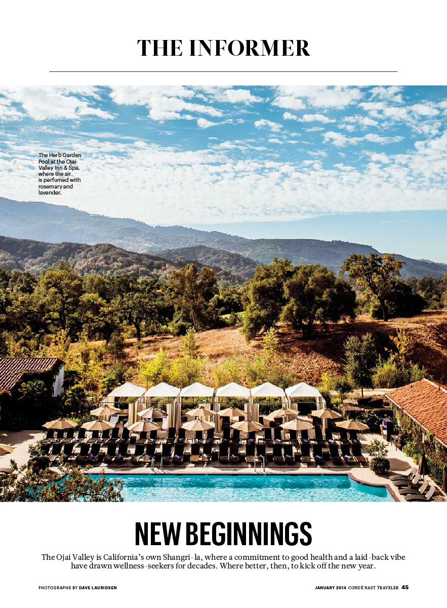 Oja for Conde Nast Traveler