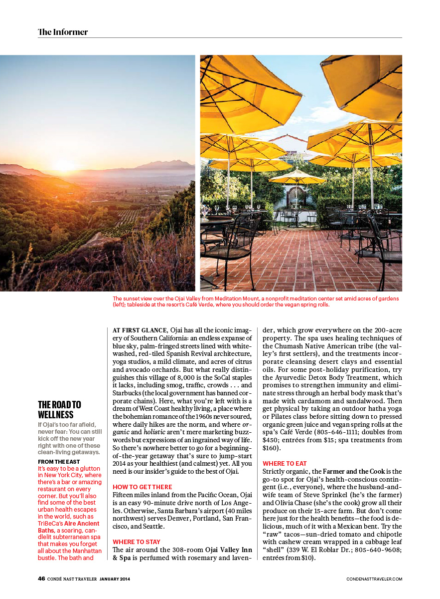 Ojai for Conde Nast Traveler