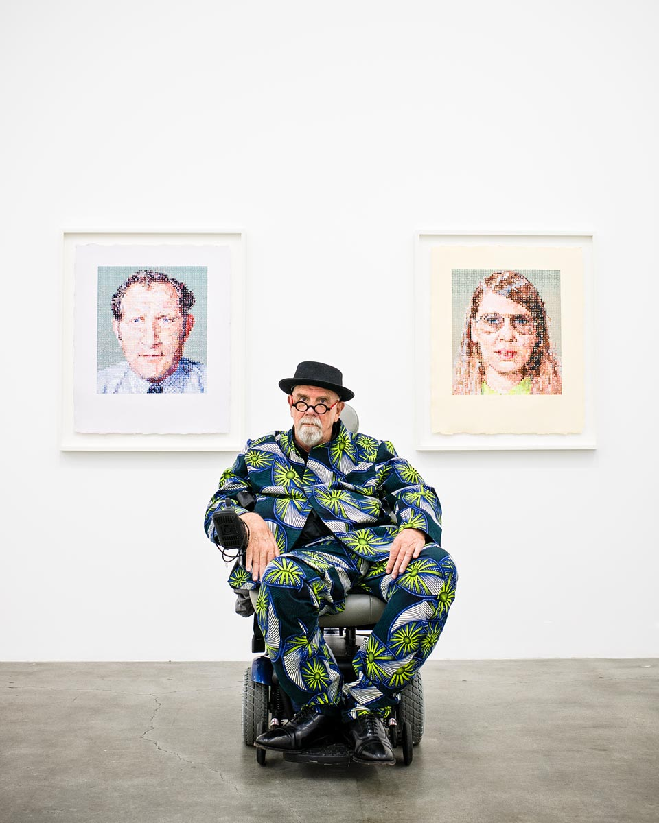 Chuck Close for Sunset Magazine