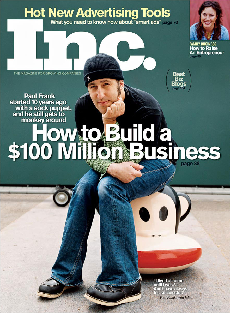 Paul Frank for Inc. Magazine