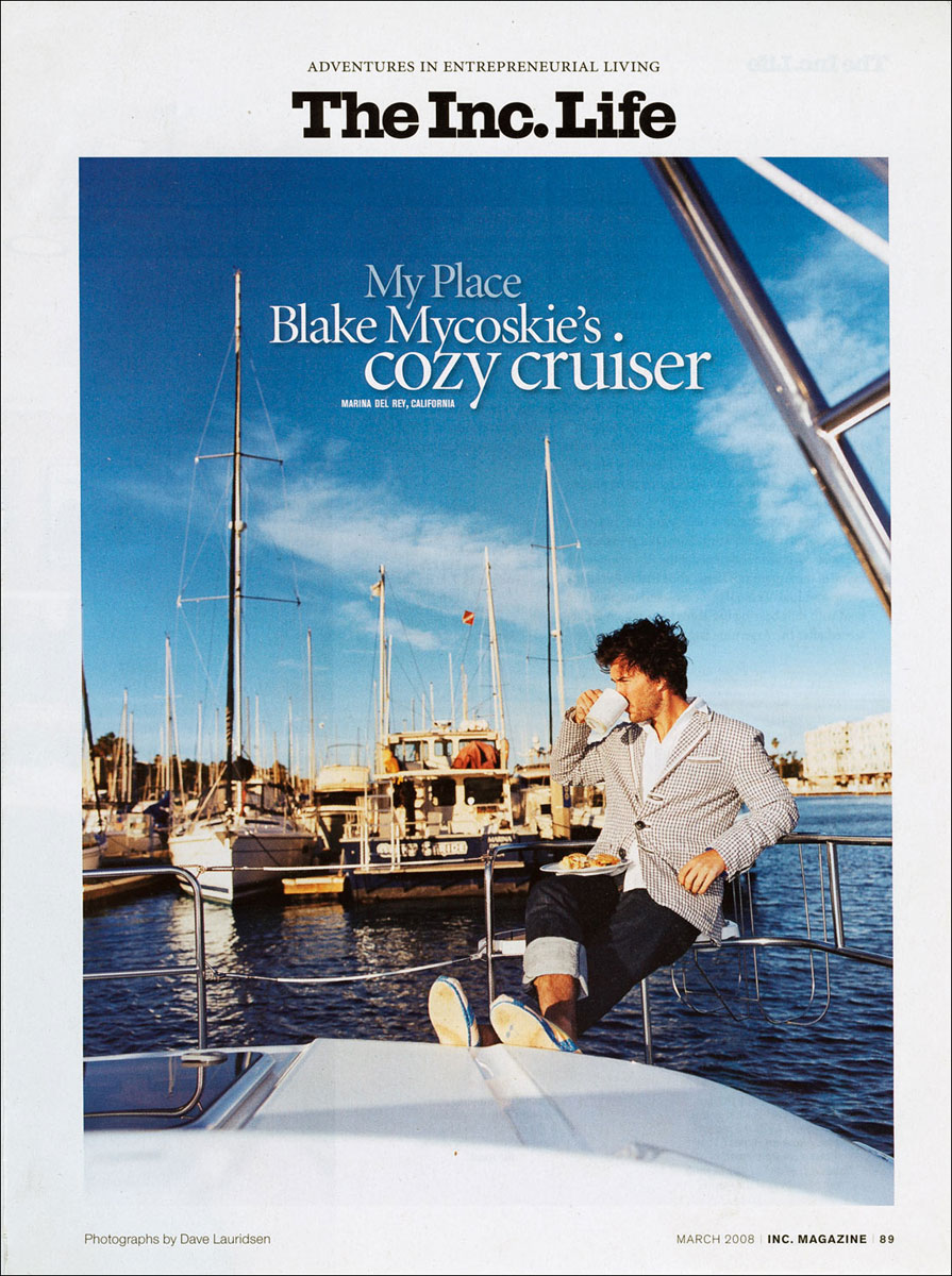 Blake Mycoskie for Inc. Magazine