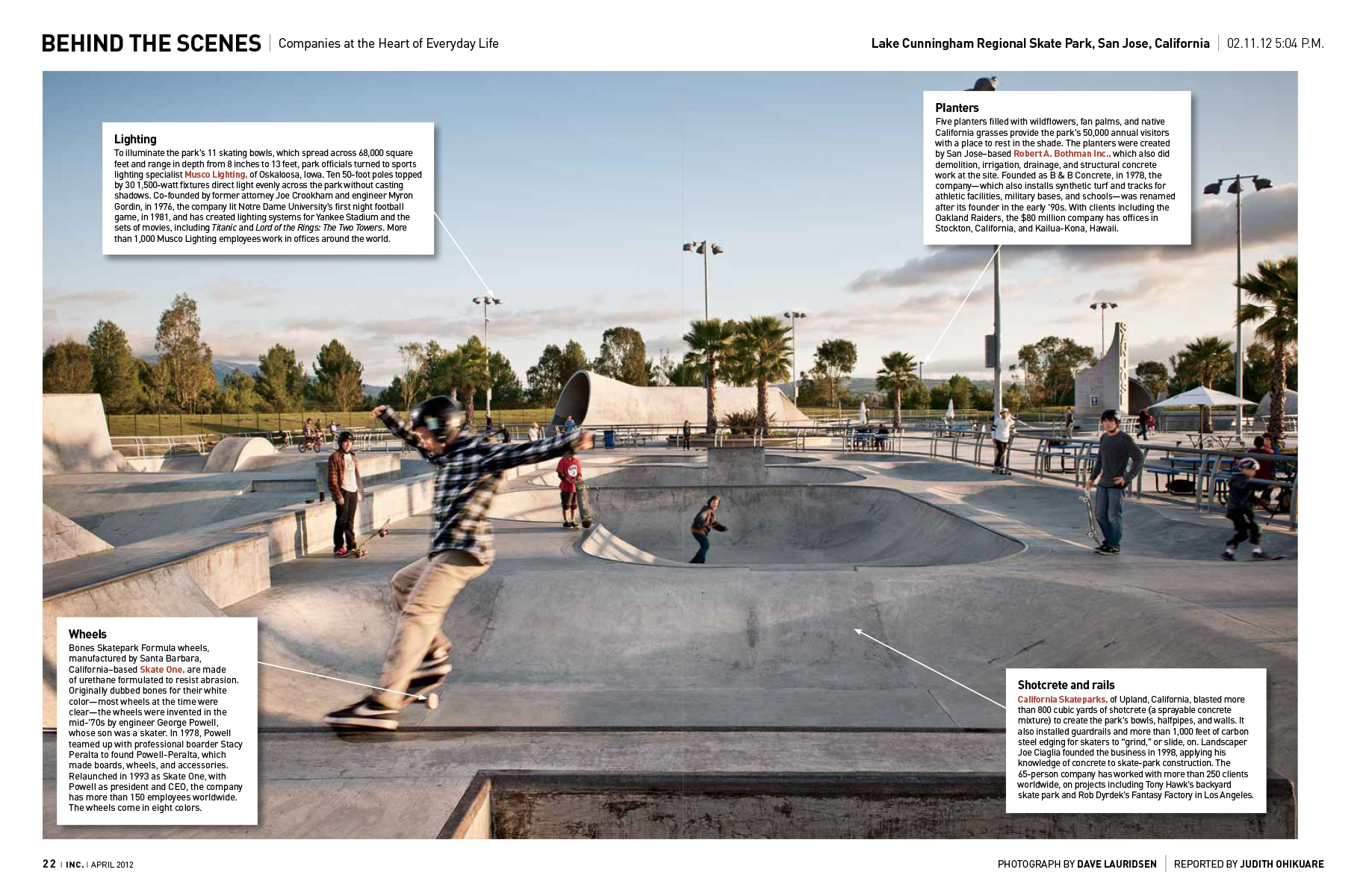 Skate park for Inc. Magazine