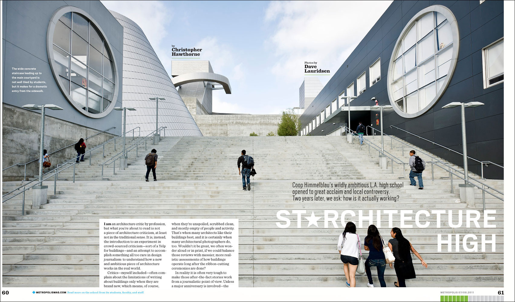 Coop Himmelblau School for Metropolis Magazine