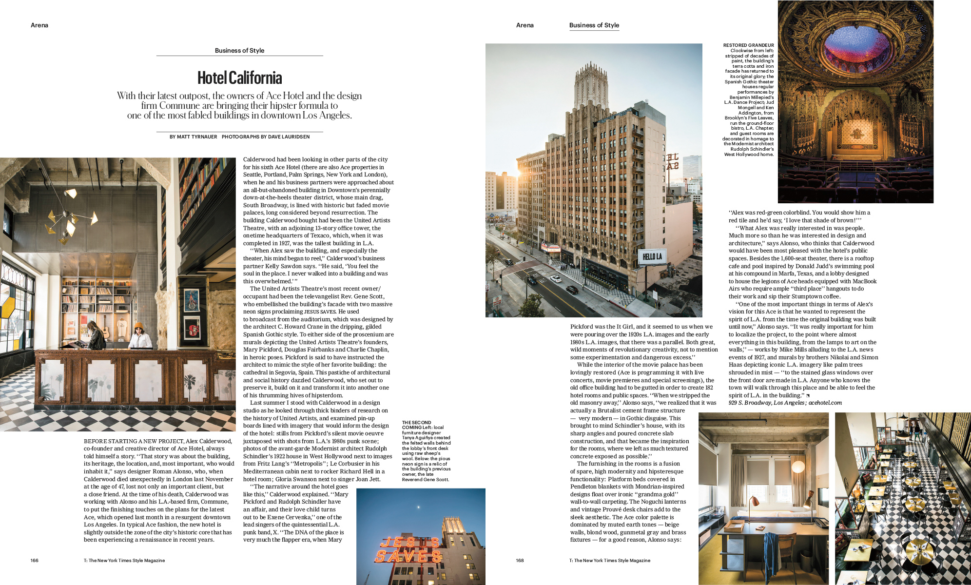 Ace Hotel for T Magazine