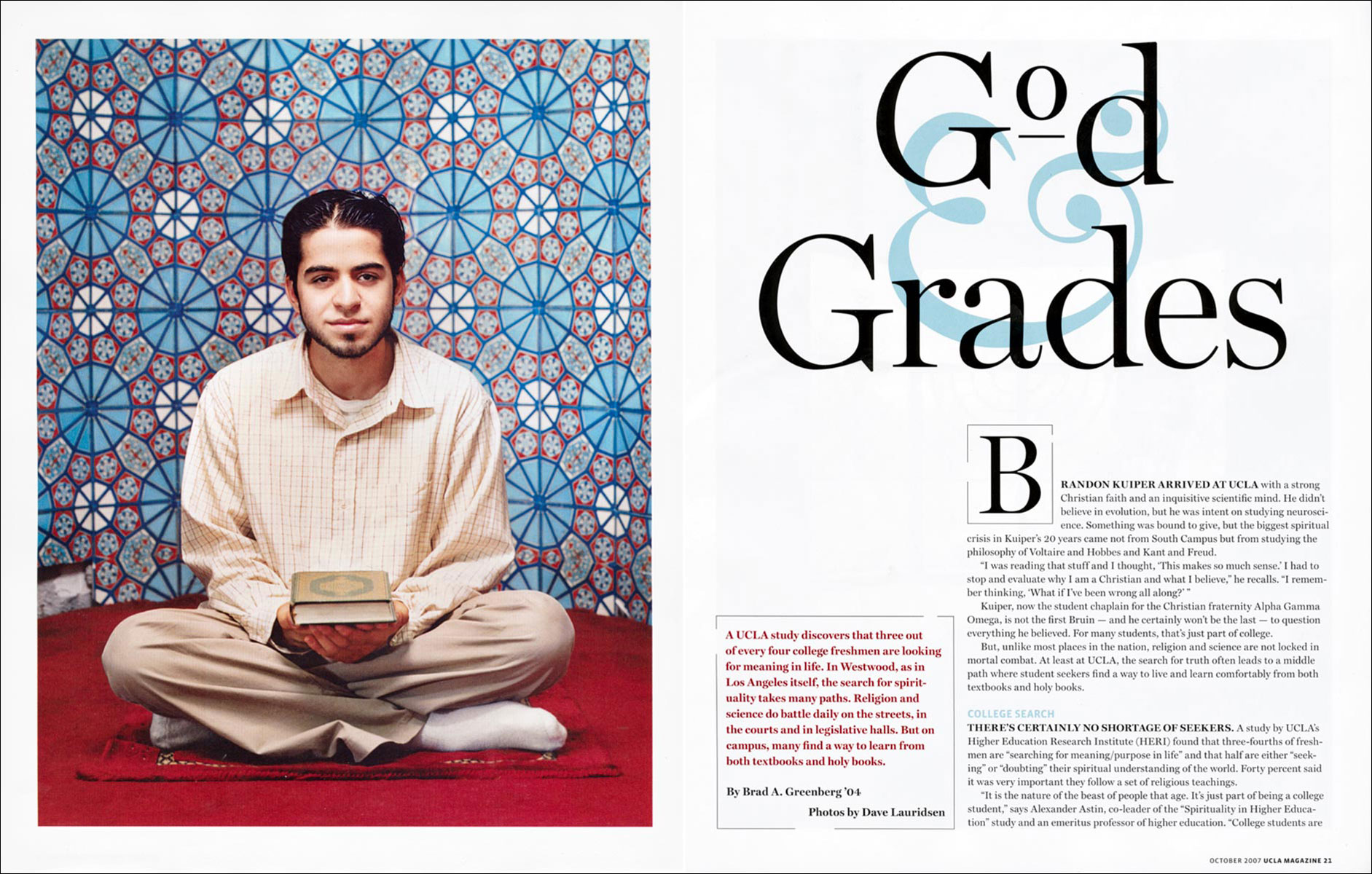 God Grades for UCLA Magazine